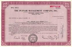 Putnam Management Company - Massachusetts 1968