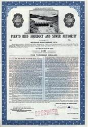 Puerto Rico Aqueduct and Sewer Authority Specimen Revenue Bond