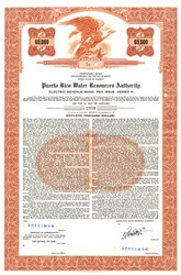 Puerto Rico Water Resources Authority Electric Revenue Bond - Puerto Rico 1960's