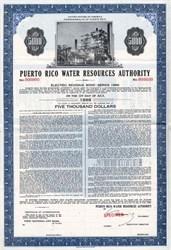 Puerto Rico Water Resources Authority Electric Revenue Bond - Puerto Rico 1966