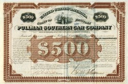 Pullman Southern Car Company (hand signed by George Pullman ) - Kentucky 1876
