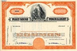 Puget Sound Power & Light Company Specimen - Washington