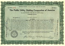 Eternal Optimist Stock Certificate bought October 30, 1929 the day after Market Crash