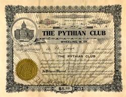 Pythian Club - Wheeling, West Virginia 1910