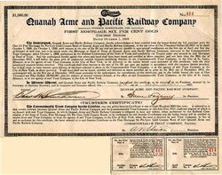 Quanah Acme and Pacific Railway Company - Texas 1912