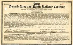 Quanah Acme & Pacific Railway Company - 1912
