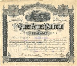 Queen Anne's Railroad Company - Maryland 1897