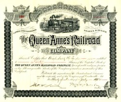 Queen Anne's Railroad Company - Maryland 1902
