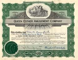 Queen Esther Amusement Company - Pennsylvania 1925