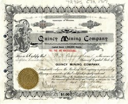 Quincy Mining Company - Arizona 1904