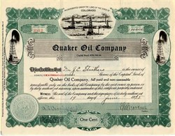 Quaker Oil Company - Colorado 1925