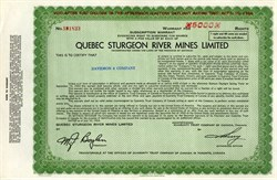 Quebec Sturgeon River Mines Limited - Canada 1964