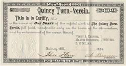 Quincy Turn-Verein - Quincy, Illinois 1885