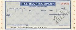 Raytheon Company Specimen Check - Lexington, Ma