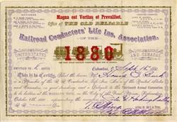 Railroad Conductors Life Insurance Association - Ohio 1880