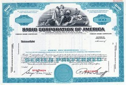 Radio Corporation of America - RCA - Nipper the Dog in Vignette (Robert W. Sarnoff as President)  - Delaware