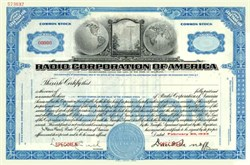 Radio Corporation of America 1933 - SPECIMEN -- David Sarnoff as President