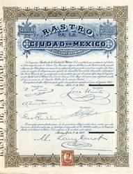 Rastro De La Ciudad De Mexico (Slaughterhouse of Mexico City)  - Mexico 1907