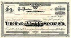 Rae Electric System Co. 1887 - San Francisco