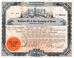 Rainbow Oil & Gas Company of Texas 1919