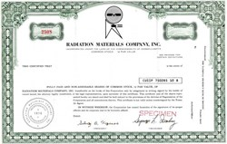 Radiation Materials Company, Inc. - Massachusetts