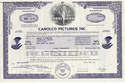 Carolco Motion Pictures Company 14% Bond - RAMBO / Terminator Movie Company