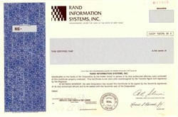 Rand Information Systems, Inc.