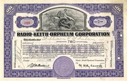 Radio-Keith Orpheum Corporation - Maryland 1932