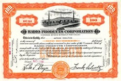 Radio Products Corporation - New Jersey 1930