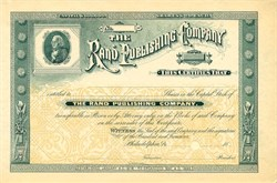 Rand Publishing Company - Philadelphia, Pennsylvania - 1886