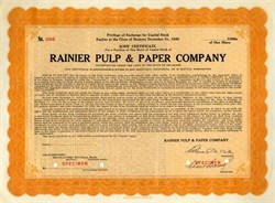 Rainier Pulp & Paper Company 1939 ( Now Simpson Paper Company )