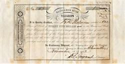 Racine & Rock River Telegraph Company - Wisconsin 1852