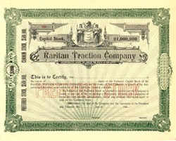 Raritan Traction Company - New Jersey 1900