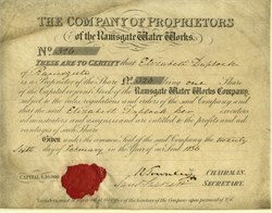 Ramsgate Water Works Company -  Isle of Thanet, England 1836