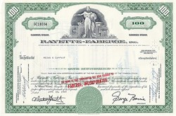 Rayette - Faberge Stock Certificate 100 shares