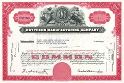 Raytheon Manufacturing Company 1950's