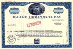 R.I.H.T. Corporation - Rhode Island 1970