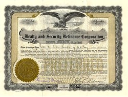 Realty and Security Refinance Corporation - Missouri 1933