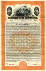 Remington Arms Company (Famous Gun company)  1922 - Gold Bond