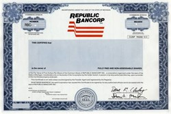 Republic Bancorp, Inc. (Now Citizens Republic Bancorp )  - Michigan