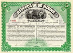 Rebecca Gold Mining of Colorado 1895