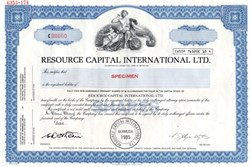 Resource Capital International Ltd. - Bermuda