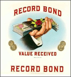 Record Bond Cigar Label