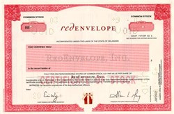 RedEnvelope, Inc. - Delaware