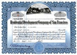 Residential Development Company of San Francisco - California 1939