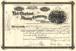 Red Elephant Mining Company - Ouray, Red Elephant, Colorado 1880