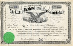 Retail Dealers Protective Association (Early Credit Bureau Company)  - New York 1922