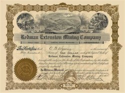 Redman Extension Mining Company - Arizona 1908