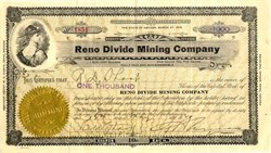Reno Divide Mining Company - Mud Lake, Esmeralda.  Divide - Nevada 1920