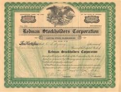 Redman Stockholders Corporation 1913 Arizona Mines, McCabe, Arizona (Yapavai County)